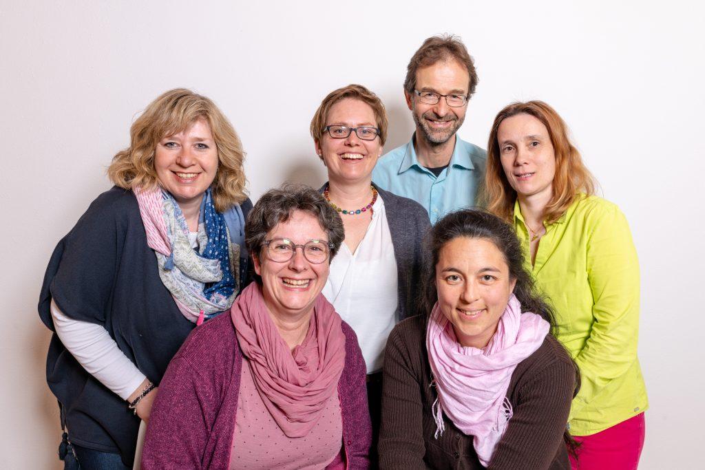 von links: Claudia Lechner (Schriftführerin),  Andrea Meier (1. Vorsitzende), Melanie Tischner (Beisitzerin) Stephan Abel (Beisitzer), Thamina Schreiber (2. Vorsitzende), Annett Soravia (Vorstand Finanzen)